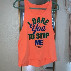 I dare you to stop me Zumba Tank Top